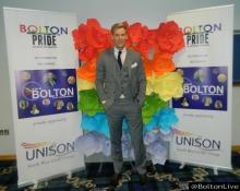 Craigs Stevens at The Bolton Pride LGBT Awards at Macron Stadium