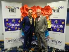 Father & Son at The Bolton Pride LGBT Awards at Macron Stadium