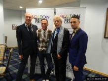 James & Mark with Sir Ian Mckellen and Anthony Cotton at The Bolton Pride LGBT Awards at Macron Stadium
