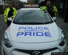 The GMP Police with Pride Car made regular appearances over the weekend