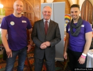 James & Mark from Bolton Pride with David Crausby MP