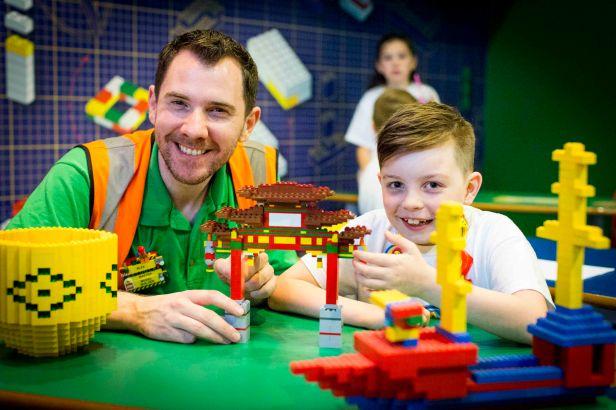 Freddie Smallwood with Alex, master model builder