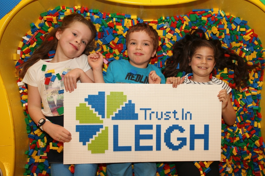 (left to right) Chloe, William, Alice at LEGOLAND Discovery Centre Manch...