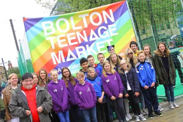 Teenage market in Bolton