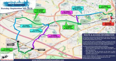 Half Marathon road closures preview
