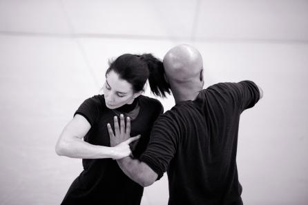 Tamara Rojo and Akram Khan rehearsing Giselle (c) Laurent Liotardo (2)
