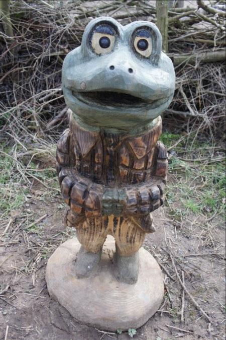Brockholes toad sculpture
