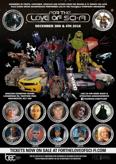 For the love of Sci-fi heading to Manchester in December
