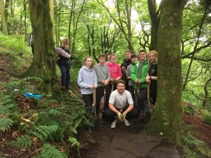 Young people at Rivington task day SEPT 17