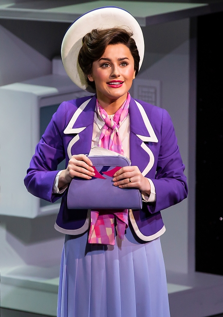 9 TO 5 THE MUSICAL. Amber Davies 'Judy Burnly' (2). Photo Pamela Raith