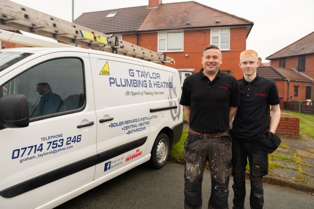 Graham Taylor with apprentice Ewan - G Taylor Plumbing & Heating
